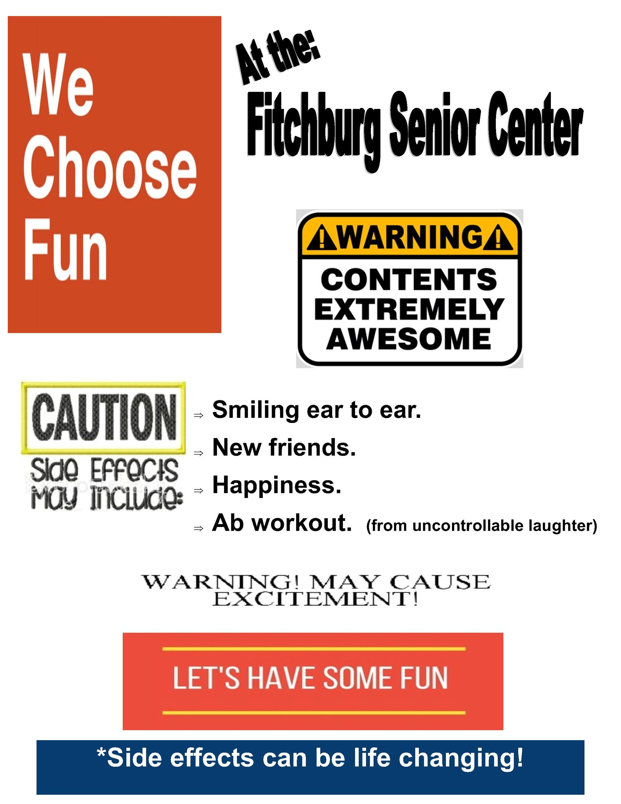 2019 ENTER AT YOUR OWN RISK SENIOR CENTER