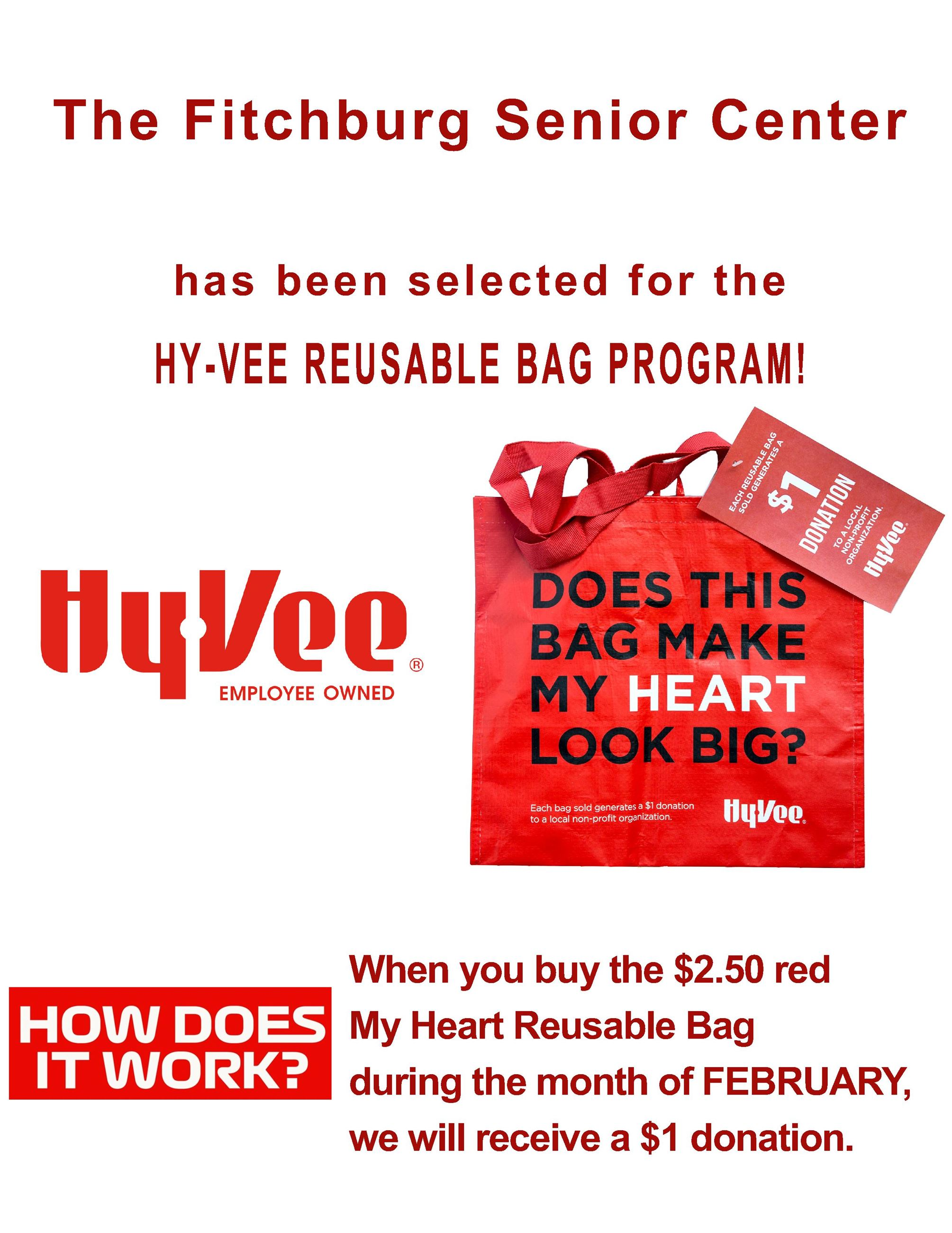Hyvee red bag fundraiser 1