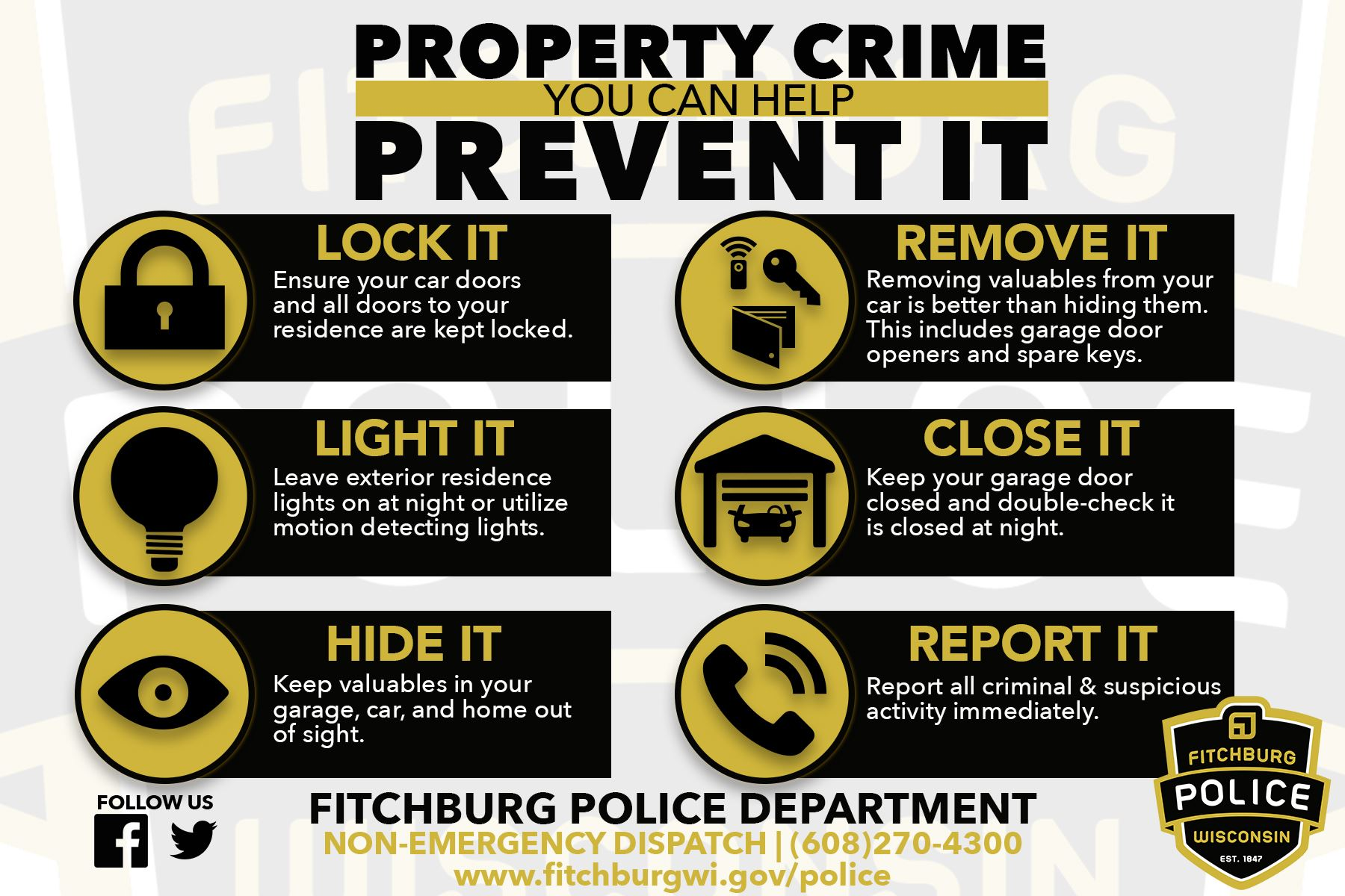 property crime prevention 2018